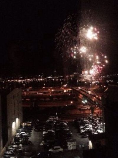 Fireworks over the river last night ATouristInMyOwnCity TheSidewalksOfTheCity TheVille Streamzoofamily