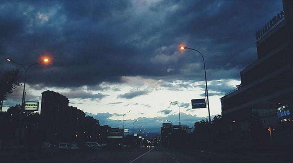 so simply pleasing ☁ Outdoors City Photography Sky Blue Sky Sky Photography Sky And Clouds Skyporn Cloud - Sky Road Macedonia Skopje Macedonia Streetphotography