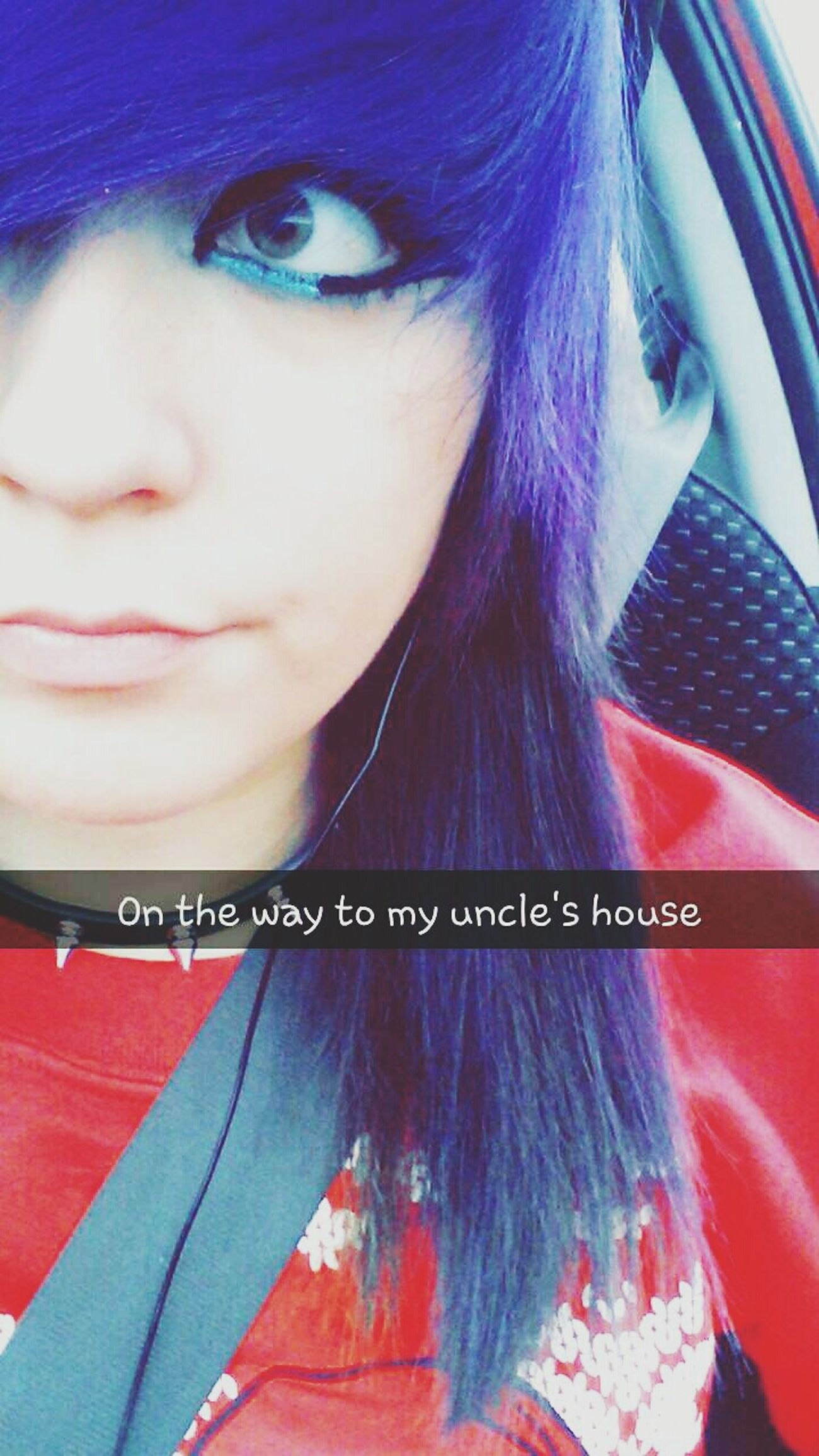Spent Christmas Eve with fam That's Me Hi! Purple Hair Snapchat