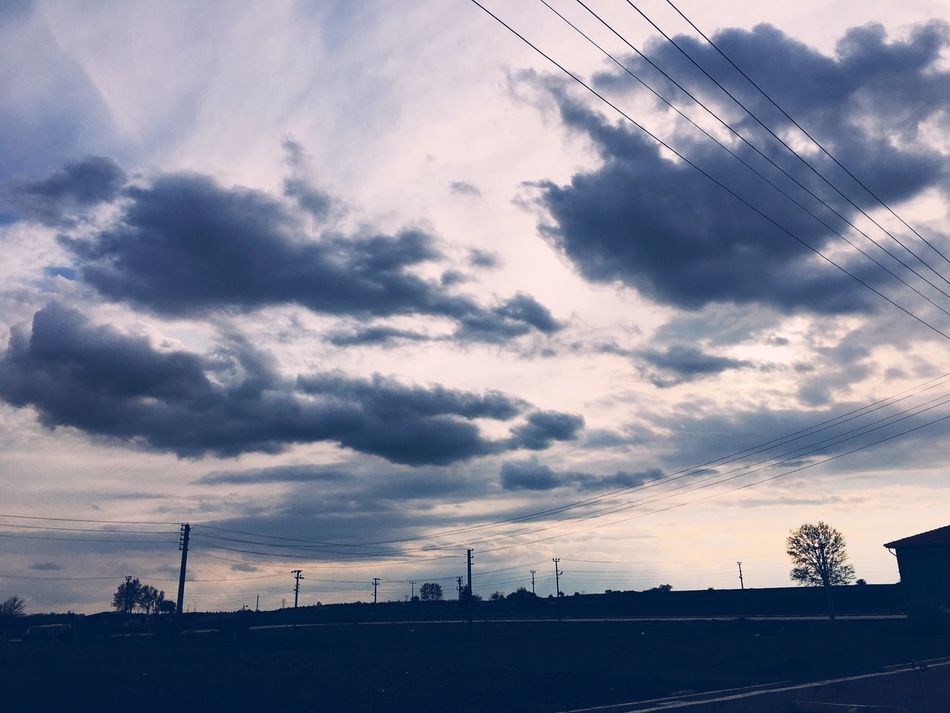 Sky Cloud - Sky Electricity  Transportation Electricity Pylon Power Line  Sunset Power Supply Outdoors Cable No People City Road Architecture Telephone Line Day Nature