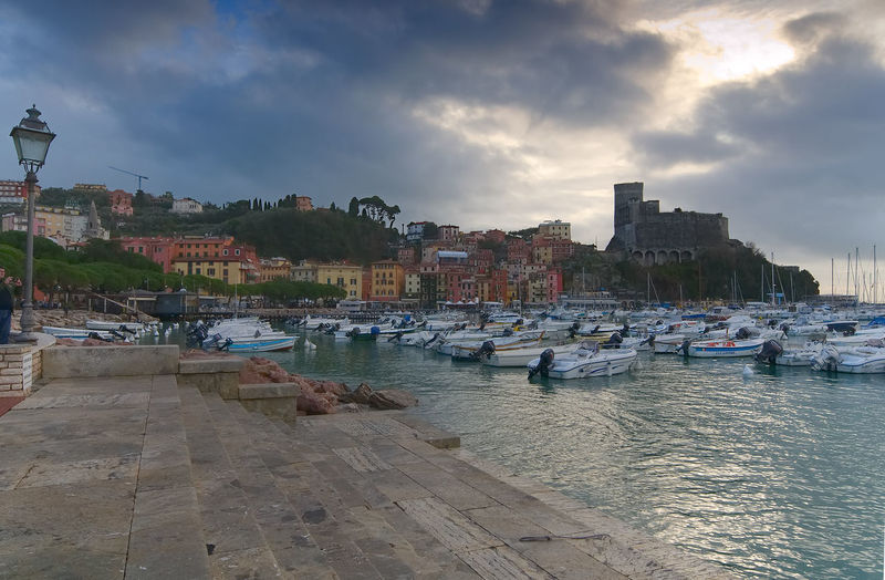 Gulf of the poets ( Golfo dei Poeti ) - Province of La Spezia - Lerici - Ligurian sea - Italy City Golfo Dei Poeti Harbor La Spezia Lerici Promenade Skyline Architecture Boat Building Exterior Built Structure Cloud - Sky Fishing Gulf Moored Nature Outdoors Port Province Riviera Sky Tower Urban Village Waterfront