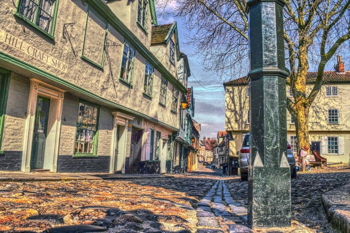 Taking Photos Nikon D3300 Cobblestone Streets Old Buildings Norwich Elm Hill Old Part Of My City Springtime Timber Frame Buildings Dramatic Edit