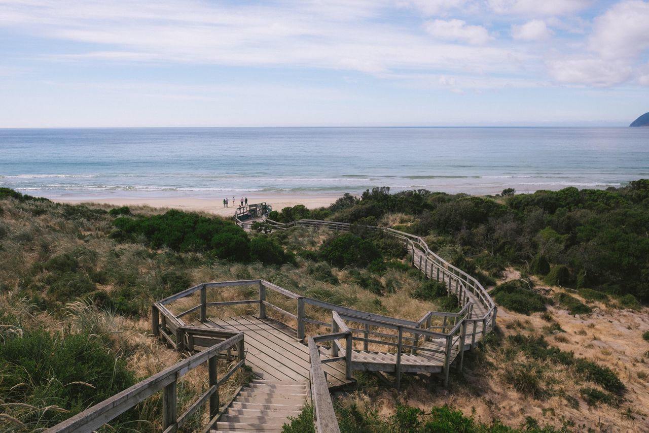 Beach Sea Horizon Over Water Sky Nature Scenics Beauty In Nature Day Railing Water Outdoors No People Tasmania Australia