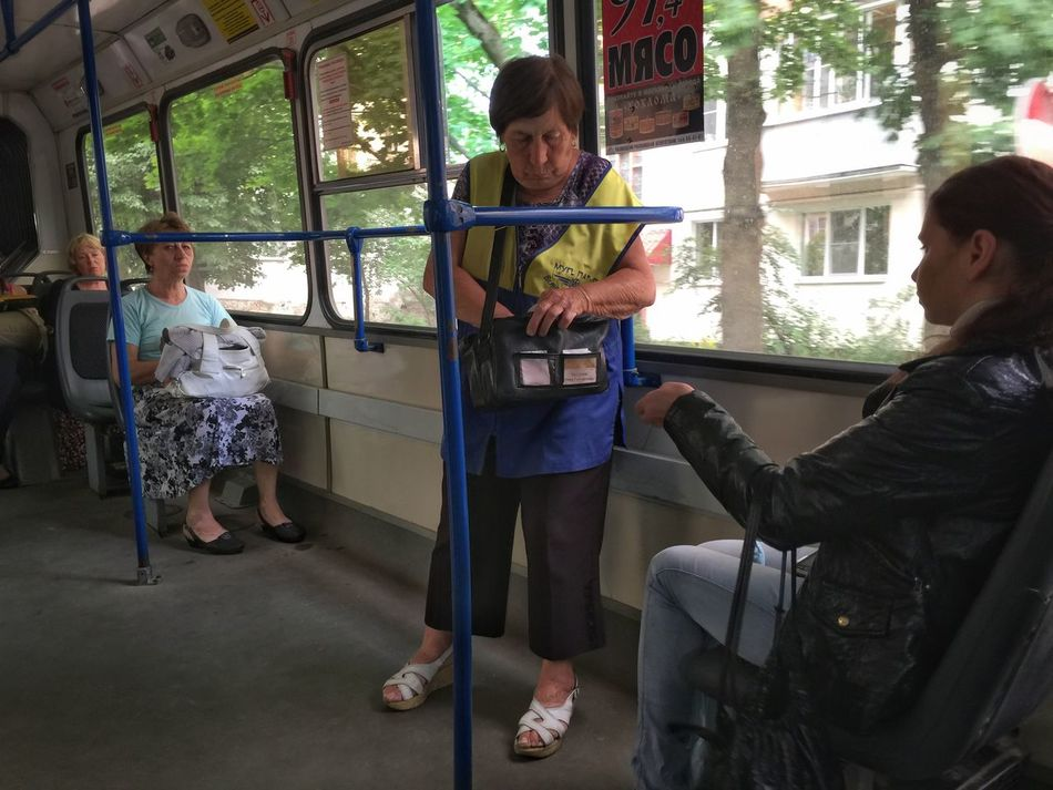 Paying for the bus fare in the traditional way Rus2015tc Traveling Streetphotography