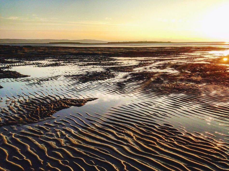 After high tide First Eyeem Photo Water Beach Beach Photography Beach Life Sunlight Reflection Nature Photography Sandripples