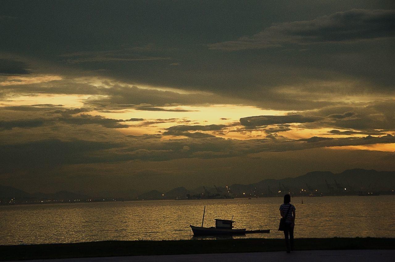 Cloud - Sky Sunset Sky Rio De Janeiro Brazil Let's Go. Together.
