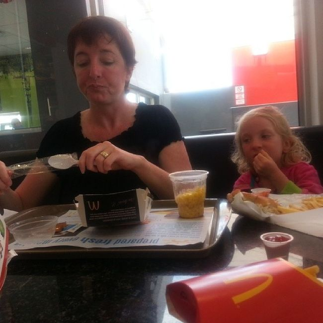 Being spoilt at Mc Donalds