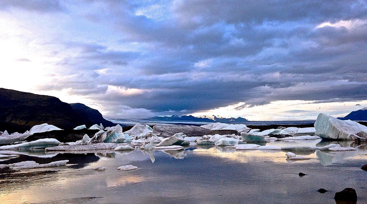 Beauty In Nature Cloud Cloud - Sky Cloudy Glacier Glacier Vatnajokull Horizon Over Water Iceland Iceland_collection Nature Outdoors Sea Sky Tranquility Vatnajökull Vatnajökull Glacier, Iceland Water Landscapes With WhiteWall