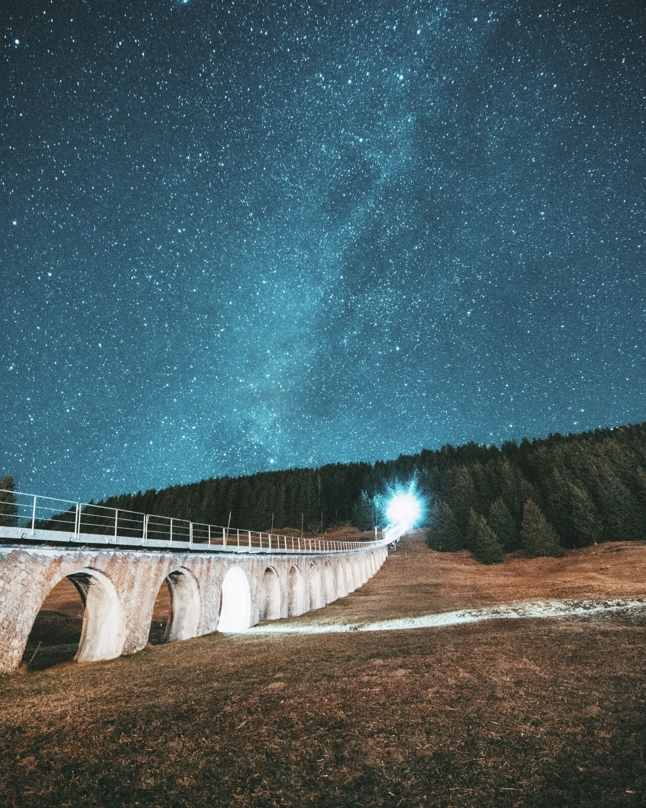 Astronomy Night Star - Space Milky Way Space Long Exposure Space And Astronomy Sky Galaxy Beauty In Nature Astrology Sign No People Outdoors Nightphotography Lights Blue Nature Bridge Switzerland Lauterbrunnen Starry Sky