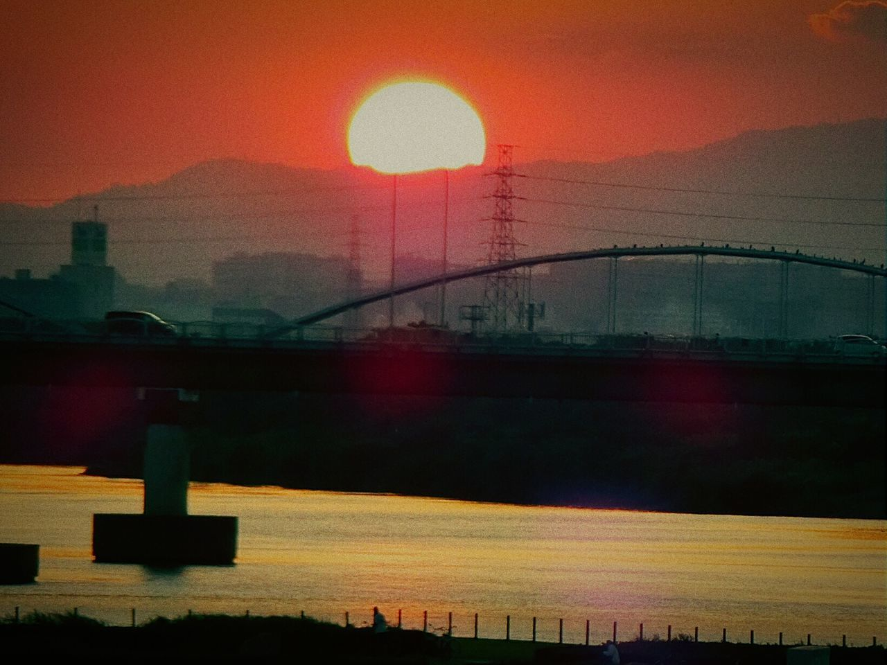 Bridge Bridgeatsunset Sunset 枚方橋