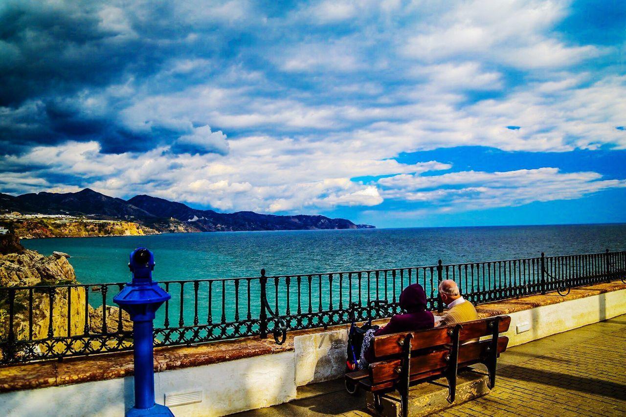 My Favorite Photo First Eyeem Photo Check This Out Relaxing Taking Photos Enjoying Life SPAIN Spain♥ Spain, Andalucia, Malaga Beach Photography Beachphotography Nerja Andalucia Nerja Coast Nerja Balcón De Europa Public Chair The Great Outdoors - 2016 EyeEm Awards