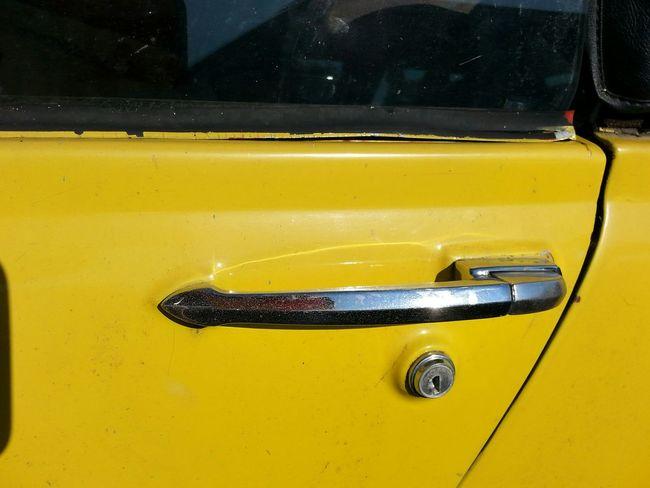 Yellow Transportation Close-up Outdoors Extreme Close Up 1974MG  Midget Door Handle Still Life
