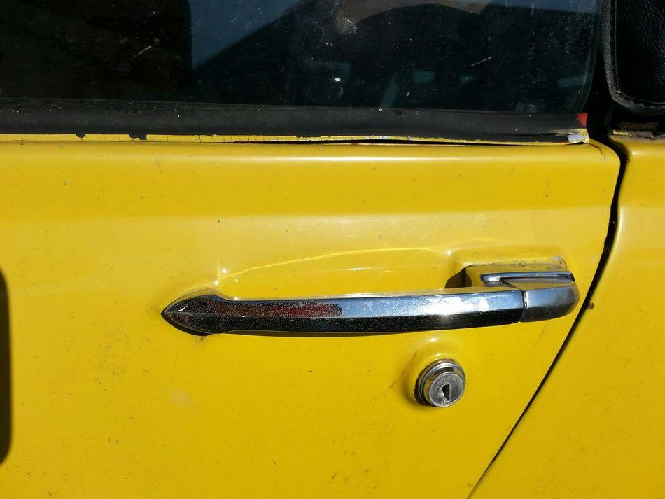 Yellow Transportation Close-up Outdoors Extreme Close Up 1974MG  Midget Door Handle Still Life The Drive