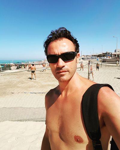 Selfie before to play in beach Sun Beach Time Self Portrait