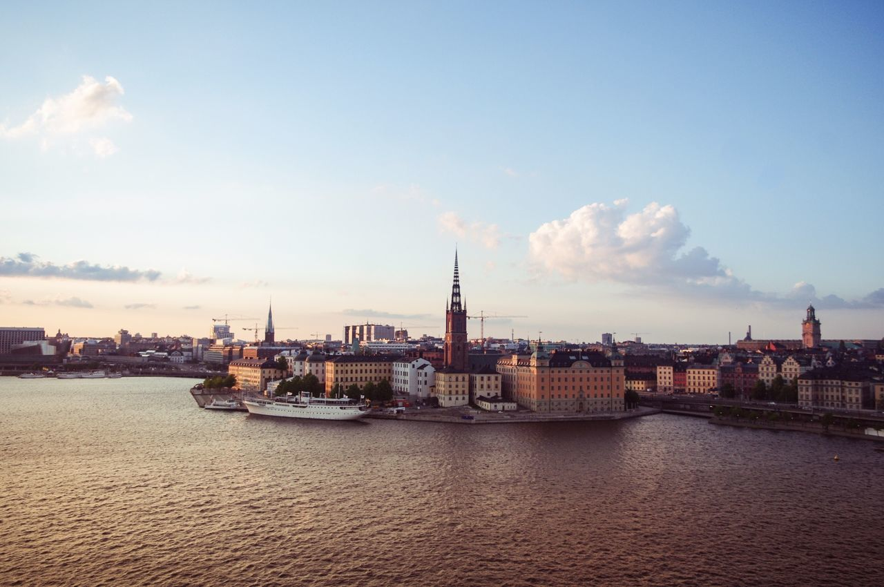 Beautiful summer cold day in Stockholm. EEA3 - Stockholm The Global EyeEm Adventure EyeEm Global Meetup Sunset Landscape Cityscapes Urban Landscape Landscape_Collection EyeEm Best Shots - Landscape Sweden Market Bestsellers May 2016 Bestsellers