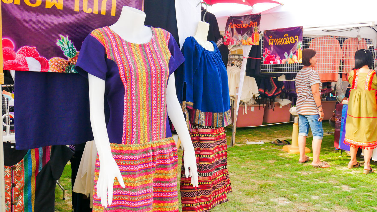 Day Fashion Men Multi Colored Outdoors People Real People Rear View Standing Traditional Clothing Women