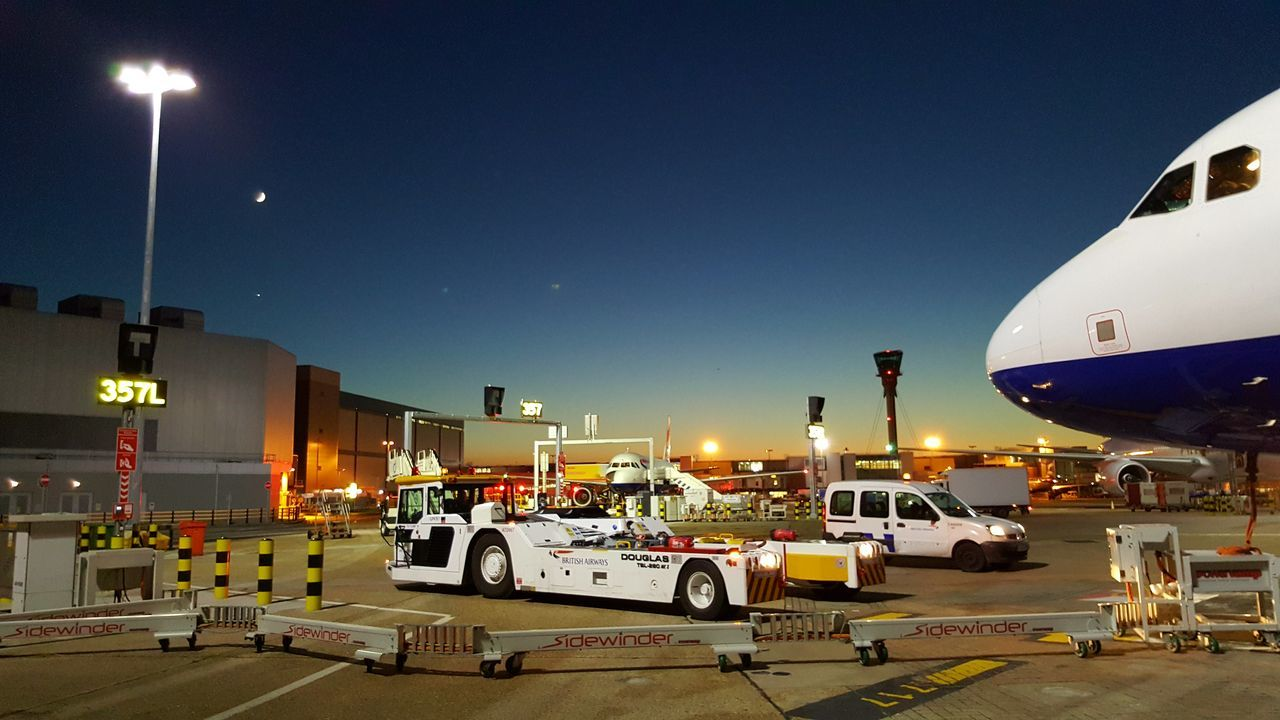 No People Airportphotography Airport Photography Airport Airplane British Airways Docking Station Petrol Sunset Night Photography Outdoors Mode Of Transport Transportation Aerospace Industry Air Vehicle Travel