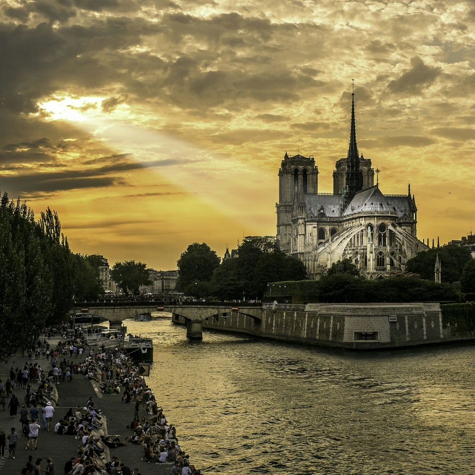 Creative Light And Shadow Cathedralenotredame Paris Historical Monuments Clouds And Sky Landscape Architecture_collection Cityscape