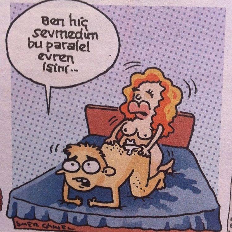 Paralel evrende, paralel devlette Iliski modeli Karikatur Komik Mizah istanbul uykusuz leman penguen girgir cinsellik