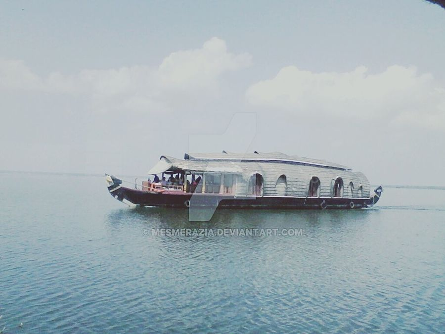 Inthewater Waterscape Boathouse Boats Boats Boats Scenery Kerela Blue Sky Trip Photo Trippy! Indianphotographer Indian Landscape Blissfulweather BlissfullyBeautiful! Beautiful Nature Beautiful Place on Deviantart too