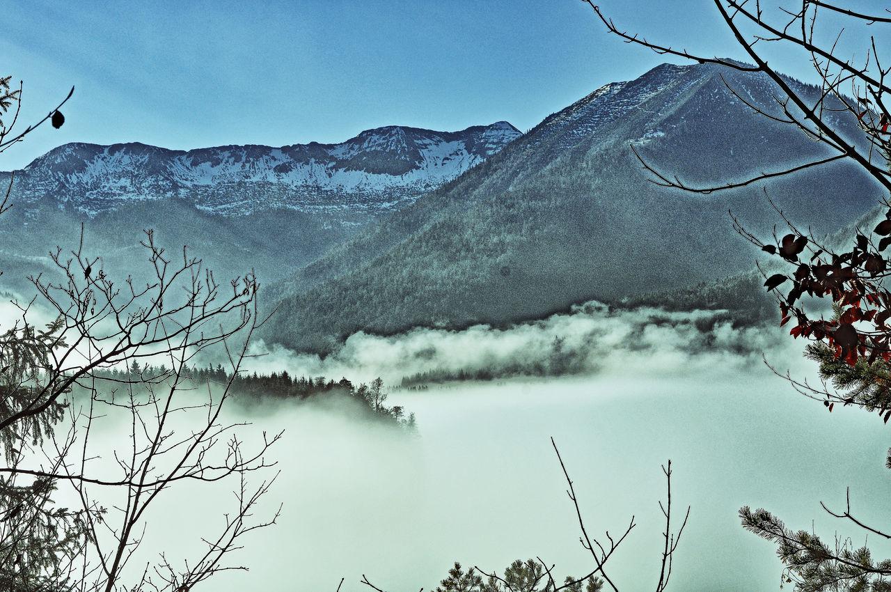 upper isartal in fog Beauty In Nature Cold Cold Temperature Fog Hill Karwendel Karwendelblick Karwendelgebirge Lake Landscape Majestic Mountain Mountain Range Nature Non-urban Scene Outdoors Remote Scenics Tranquil Scene Tranquility Upper Isar Valley Weather Winter