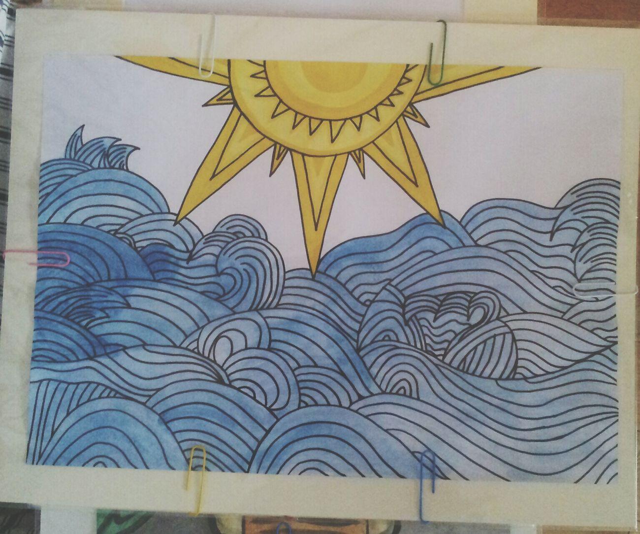 Sun&waves. Art Sharpie Summer