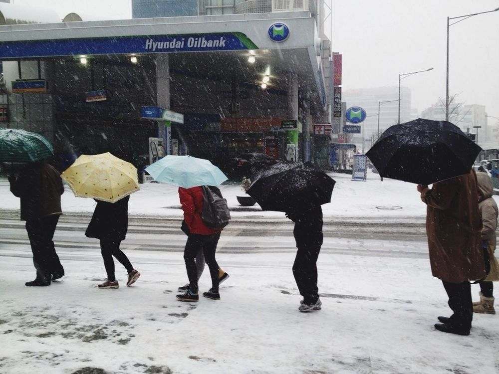 snow at Hongdae by Ryan Cabal