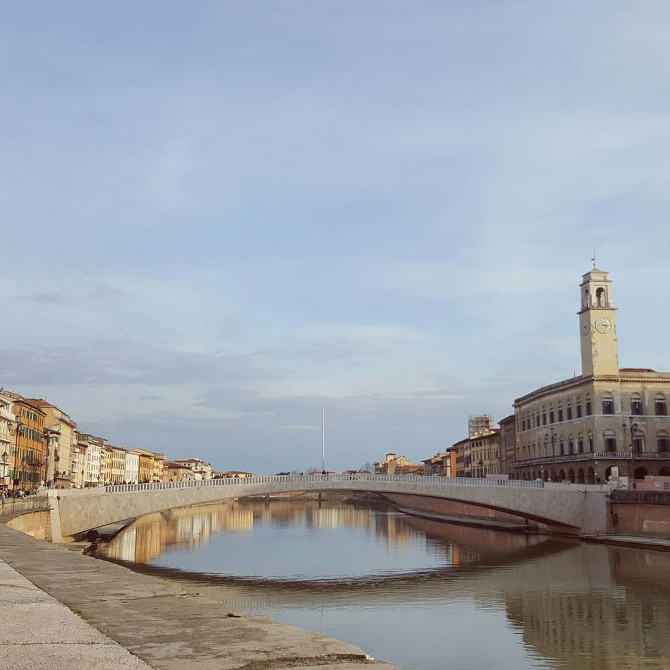 Overviee or river Arno is these beautiful pastel colours River Reflection Bridge - Man Made Structure Bridge Over Water Arno River Pastel Colors Pastel Blue Cover Calm Water Architecture City Sky History Politics And Government No People Outdoors Cityscape Day Astrology Sign