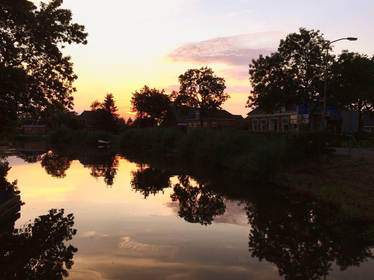 Damsterdiep Appingedam Zonsondergang Sunset Dutch Skies Groningen Dutch Canals Dutch Clouds Beautful Sky