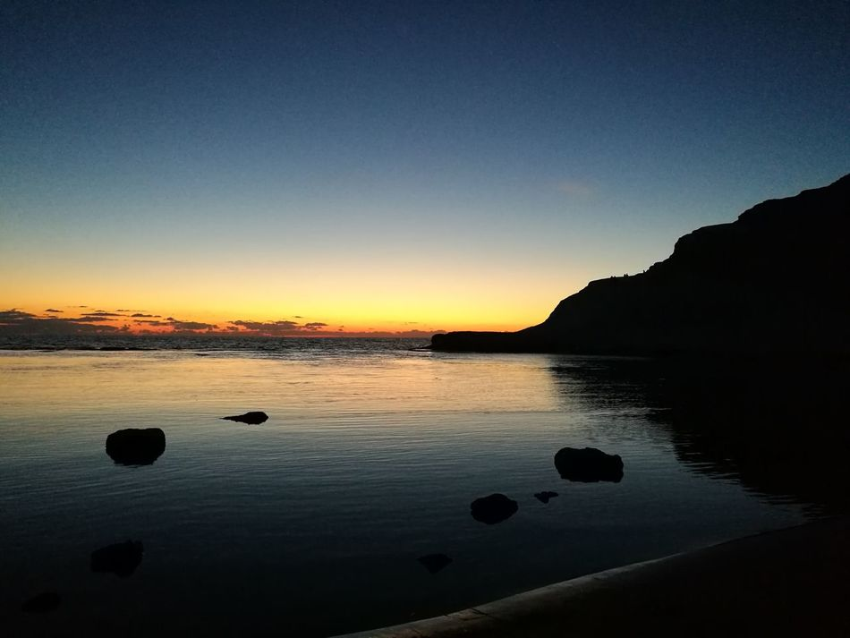 This is the magic of sicily! Seascape Sea And Sky Beautiful Day Sicily Wonderful Sky And Clouds Sunset Beach Quiet Moments