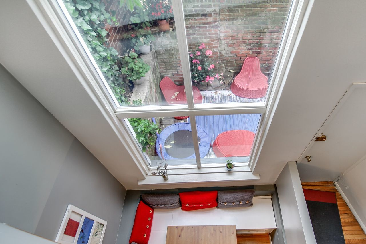 Looking Down Window Interiors Urban Lifestyle Color Diningroom Backyard Interior Design