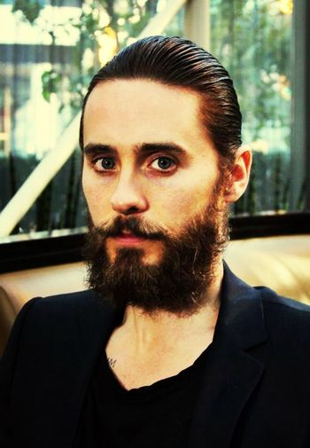 Jared Leto handsome hisbeard