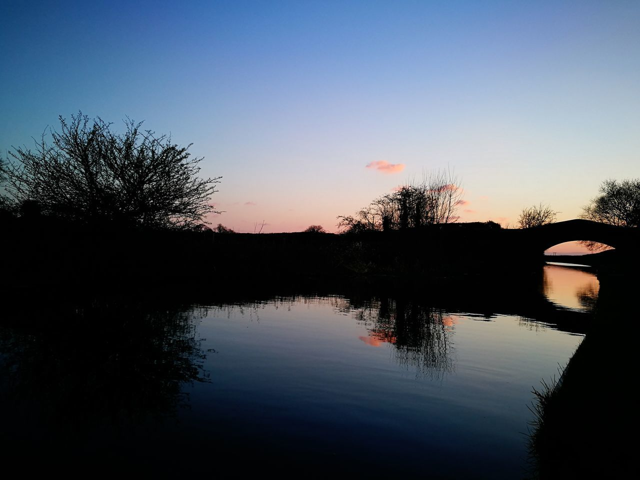 Canal Bridge Water Sunset Reflection Twilight Silhouette Wolverhampton Outdoors Sky Travel No People EyeEmNewHere Tranquility Tranquil Peaceful Relaxing