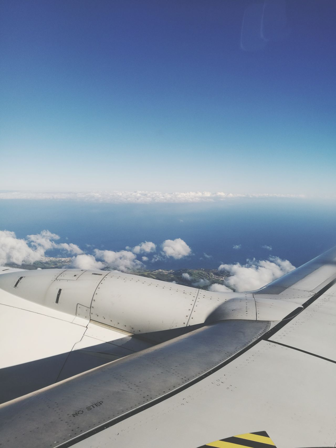 Nature Tranquility Sky Azores Window Plane Aerial Shot Airplane Flying Aerial View Travel Horizon Over Water Aerial Photography Cloud And Sky