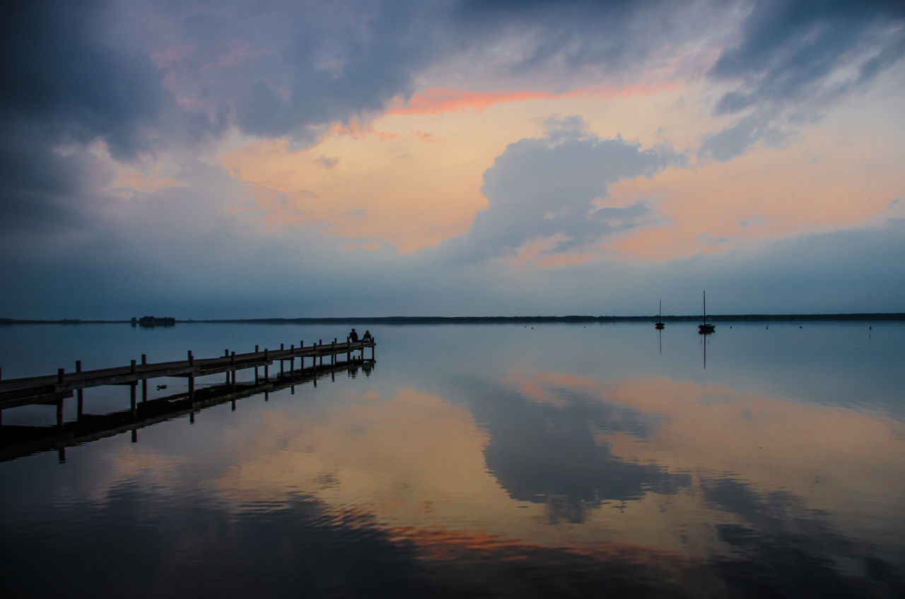 Beauty In Nature Cloud Clouds And Sky Dramatic Sky Germany Nature Ocean Outdoors Pixxart Reflection Sea Sea And Sky Steinhude Steinhuder Meer Sunrise Sunset Water Water Reflections Weather