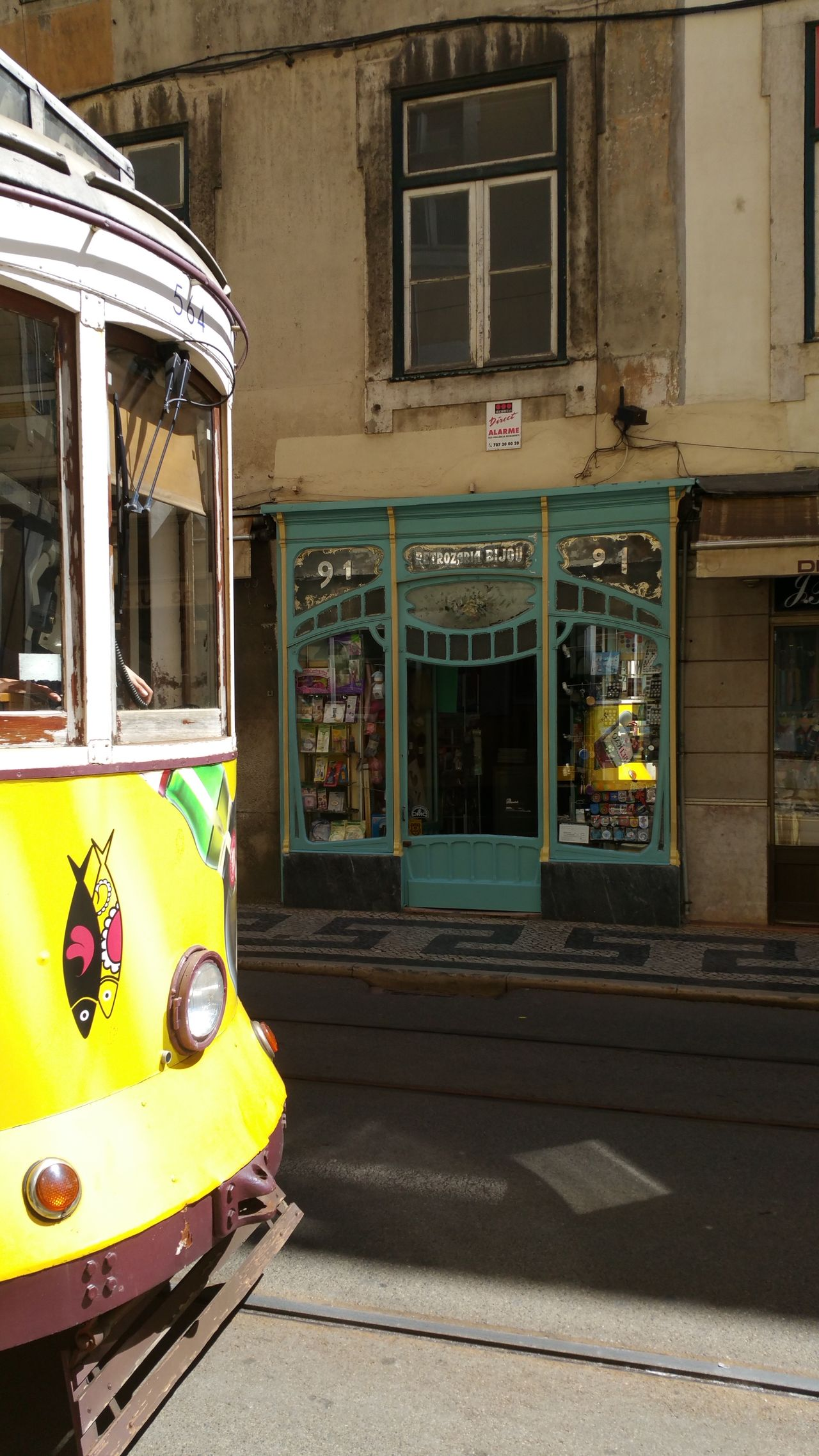 LisbonPortugal Yellow Transportation Vehicle Eletric Home Is Where The Art Is