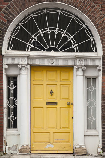 Dublin Individuality Ireland Old Fashioned Resistance  Wood Architecture Building Exterior Civil Day District Door English Gregorian Historical Law Medieval Neighborhood No People Outdoors Series Yellow