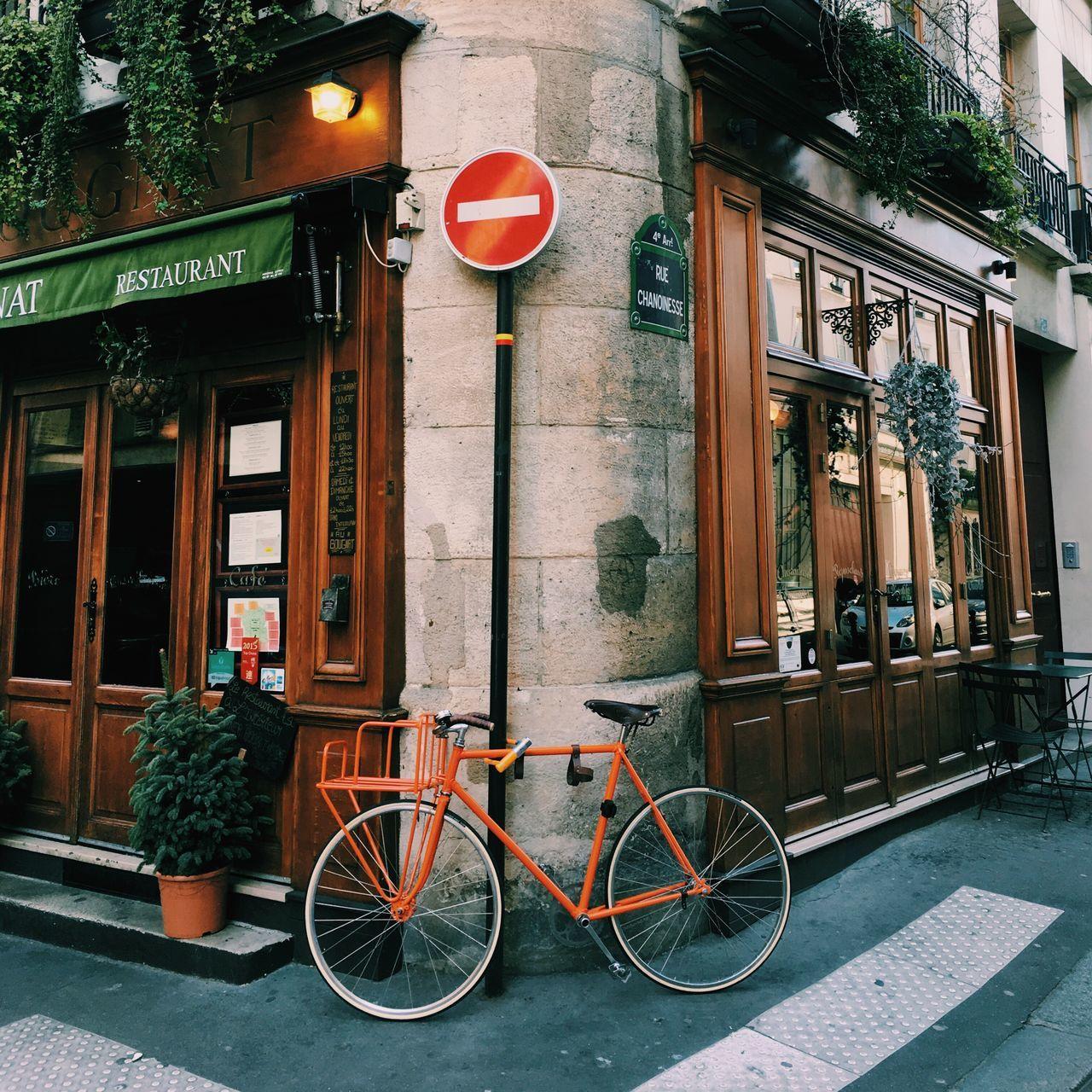 Beautiful stock photos of paris, Architecture, Bicycle, Building Exterior, Built Structure