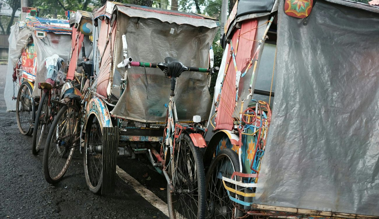 Becak Pedicab Local Transportation Bandung Vintage Junkyard
