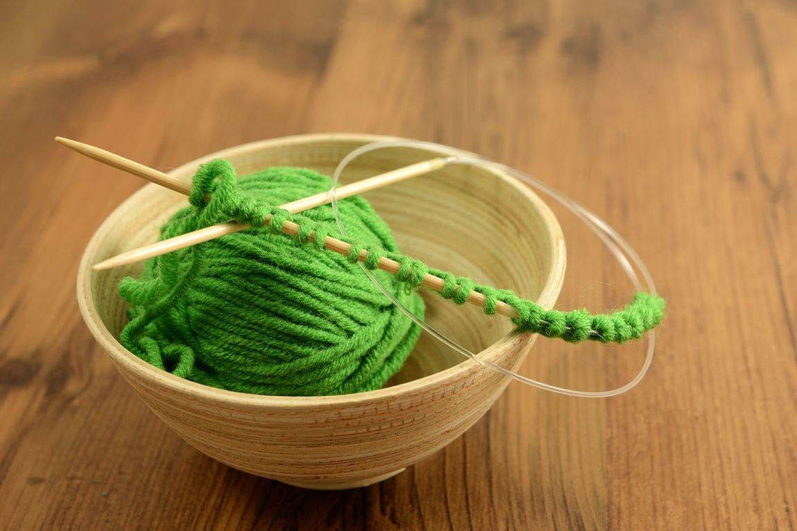 knitting kneedles with green wool Knitting Wear Knitt Handmade Crafts Basket Knitting Wool Wool Wooly Knitting Knitted  Knitting Needle Handcrafted Wool Balls