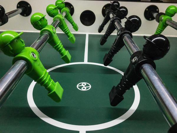 Indoors  Kölner Kickerfabrik Cologne Cologne , Köln,  Sports Babyfoot Tablesoccer Foosball Table Leonard Green Color