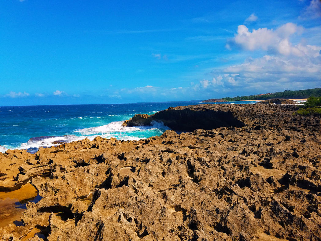 Awhile back at La cueva de las Golondrinas, Manatí P.R Beach Beauty In Nature Blue Day Edited Edited My Way Horizon Over Water Nature No People Outdoors Polarr Editor Puerto Rico Samsung Galaxy S7 Scenics Sea Sky Water Rock Cave Rocks And Water Check This Out Flying High