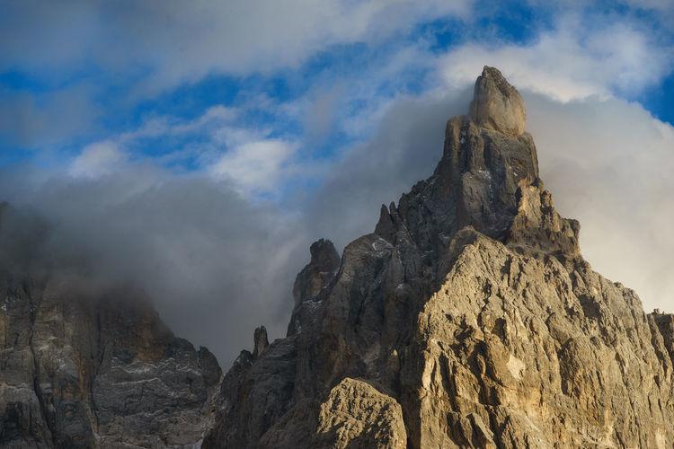 Cimon Clouds Day Dolomites Dolomiti Italia Landscape Mountain Nature Outdoors Pale Di San Martino Peak San Martino Di Castrozza Travel Destinations Trentino Alto Adige Cimon Delle Pale