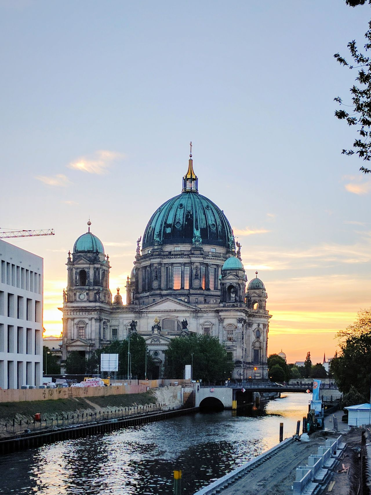 Dome Politics And Government Architecture Government Travel Destinations Water Building Exterior Sky Sunset No People Outdoors Day City Summertime Berlin Travel Destination History Neighborhood Map Cityscape Berliner Dom Spree River