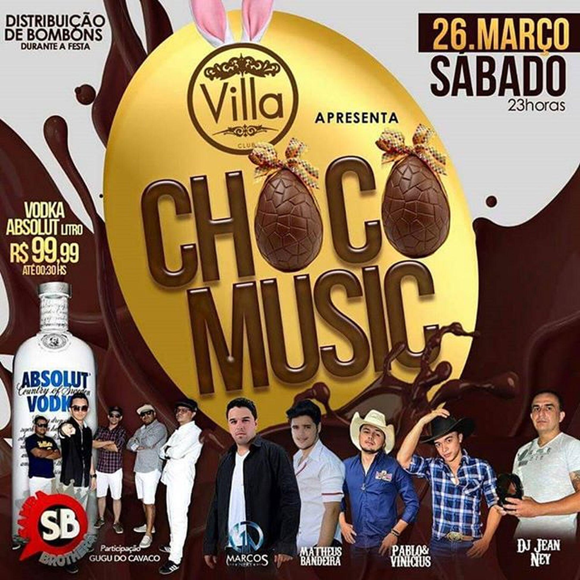 Sábado Véspera da Páscoa seu local de encontro é na VillaClub, CHOCO MUSIC com Distribuição de Bombons de Chocalate para a Mulherada no Camarote e a promoção continua, vodka com valor de R$ 99,99(até 00:30) Convites Vip: 9910-4300 (Whats) Boatarde VillaClub SábadoShow SoOsTops PáscoaNaVilla NaMelhor Sabadao Festão Sertanejo  Pagode Samba Pascoa Curta 👇 Acre Fest Eventos Siga 👉 @acrefesteventos