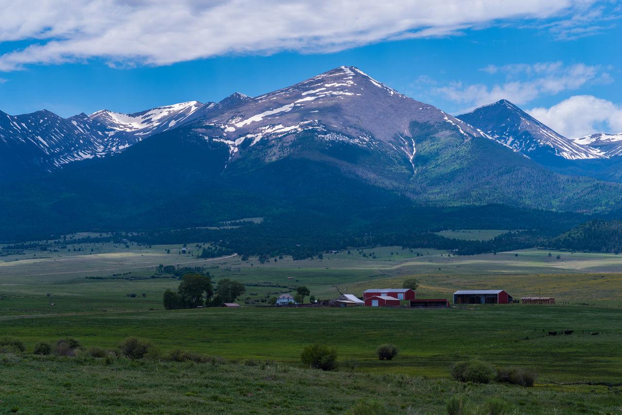 Colors Field Fields Landscape Landscape_Collection Middle Of Nowhere Mountains Peaks Random Rocky Mountains Rocky Mountains USA Snow