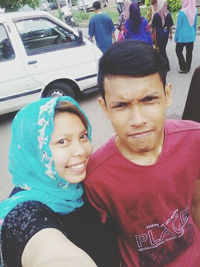 With my beloved sister