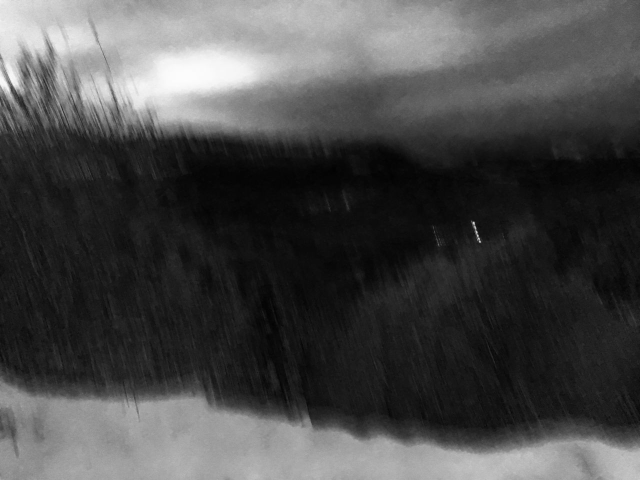 Outdoors Nature Mountain Blur Effect Scenics No People Sky Night Blackandwhite France Rhonealpes Isere  Grenoble Skiing Les 7 Laux