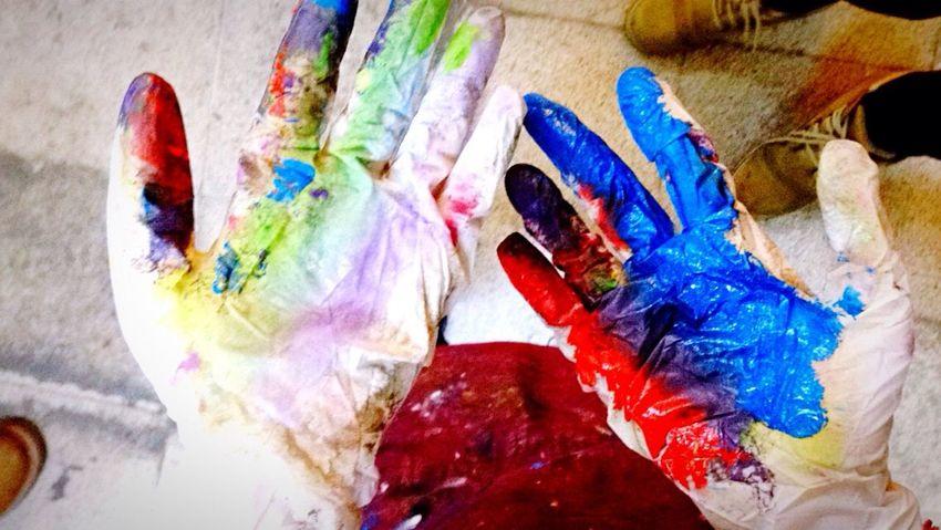 Colors Colorful Hand Handmade Yağlıboya Oil Painting Oilpainting Gökkuşağı Taking Photos Eye4photography  EyeEm Cool Beautiful Destination Having Fun Thebestcolor Bestcolour Blue Red Likeforlike Lilac JustFun Little Things