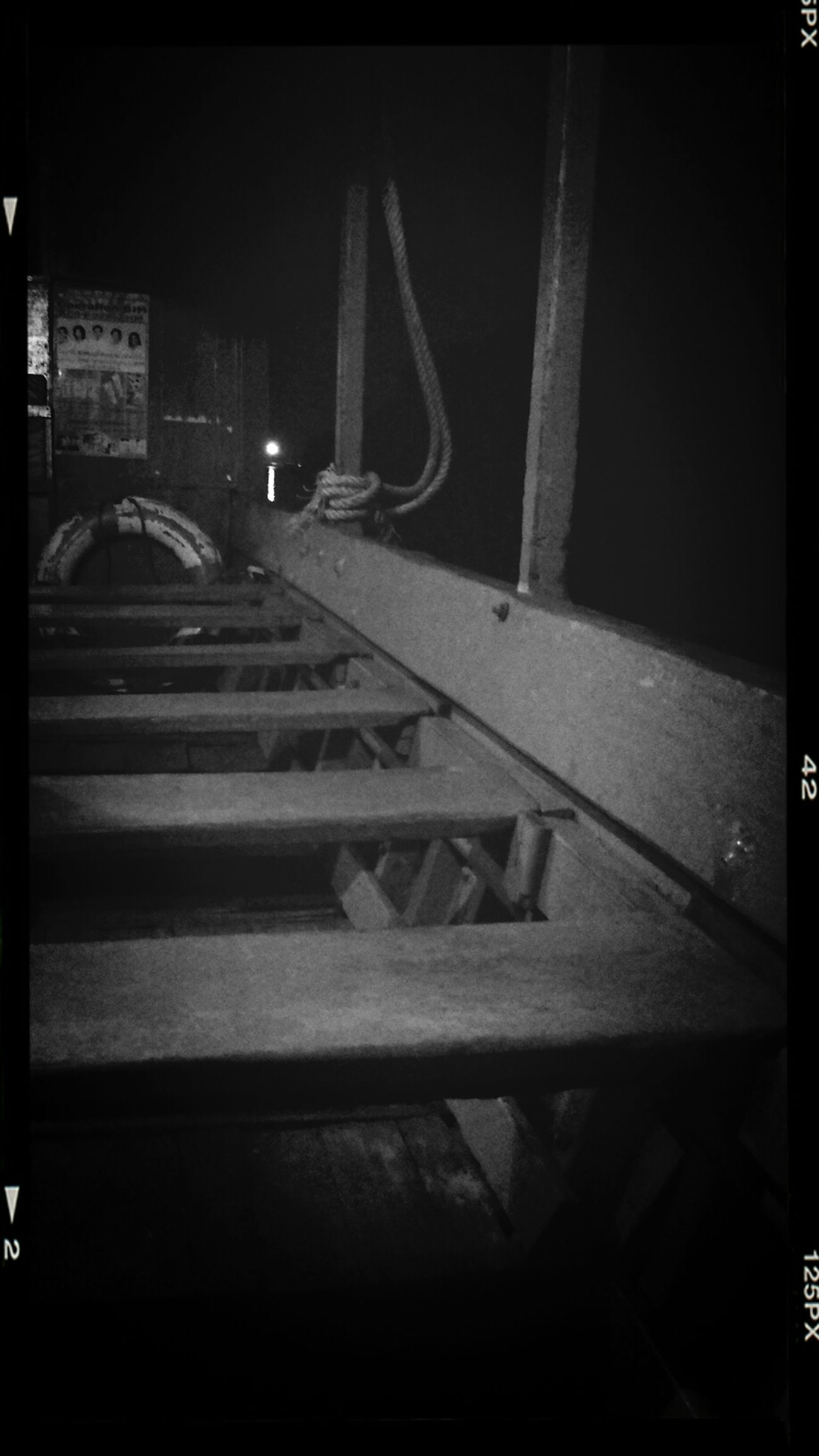 Nightphotography Boat Empty Blackandwhite